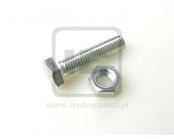 JCB Bolt + Nut 12x45MM