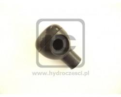 JCB Knob assembly, gearlever black & silver