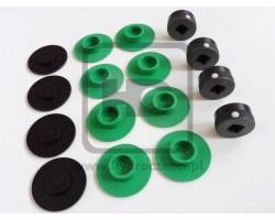JCB 3CX 4CX Stabilizer Wear Pad Kit - Metal