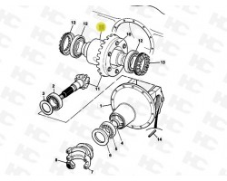 JCB Differential Assembly