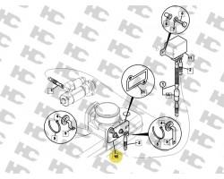JCB Heater air intake -12v